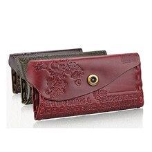 2016 Femmes Portefeuille Femelle Porte-Monnaie En Cuir Véritable Gaufrage Hasp Marque Refaire Va Femmes Élégant Femelle Femmes de Portefeuilles