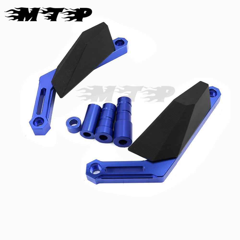 Crash Protecteurs pour Yamaha MT-09 TRACER XSR900 FZ-09 FJ09 frame sliders Bleu