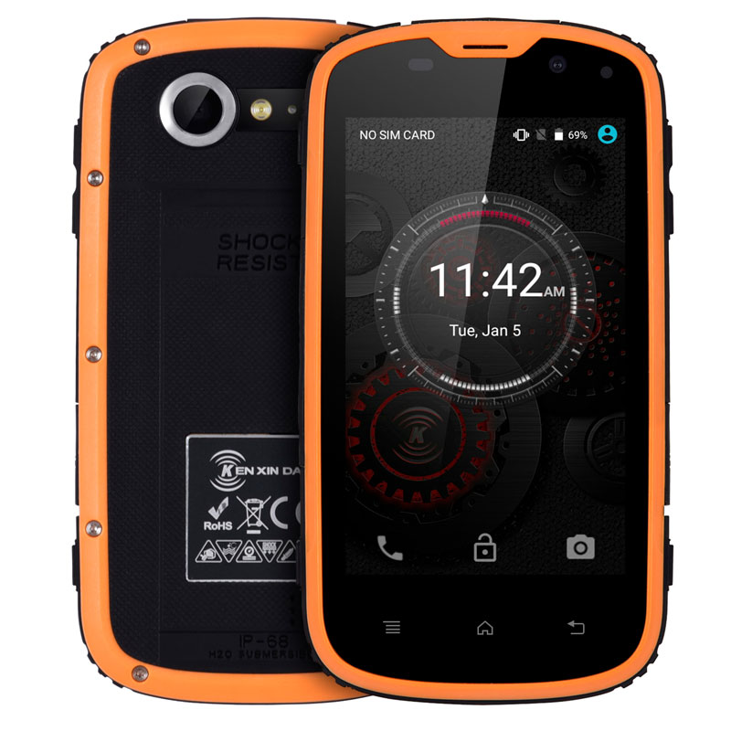 E L W5 Smartphone Ip68 Waterproof Shockproof 8GB ROM Android 6 0 Quad Core Dual Sim