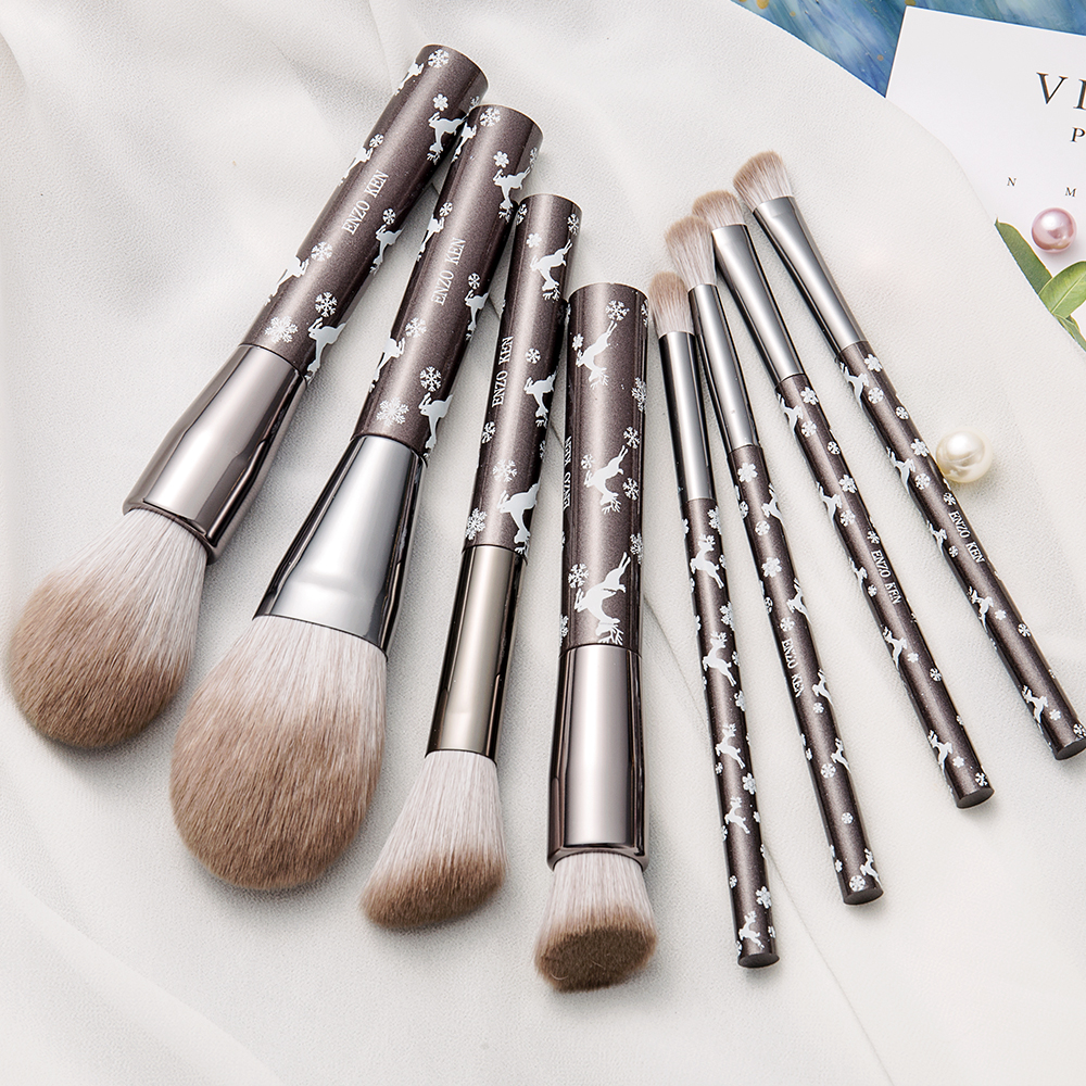 8PCS Makeup Brushes for Women ENZO KEN Merry Christmas Gift (Drop Shipping) Synthetic Blush Brush Makeup Brush Set Professional