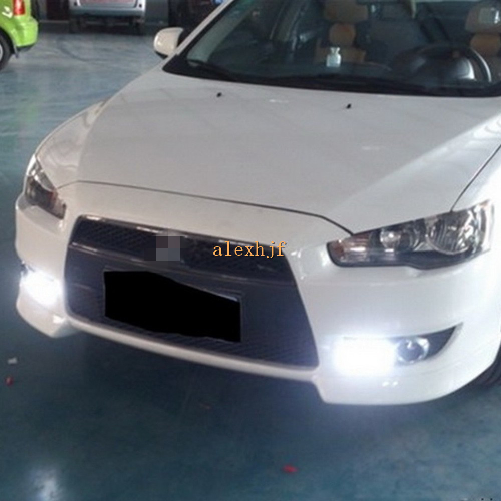 July King LED Daytime Running Lights DRL with Fog Lamp Cover, LED Light guide Fog Lamp Case for Mitsubishi Lancer 1:1 Replace july king led light guide daytime running lights drl with fog lamp cover led fog lamp case for ford escort 2015 on 1 1 replace
