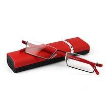 5e5c7da80b VCKA TR-90 Half Metal Frame Slim Portable women men Reading Glasses Anti Eye  Fatigue With Box Strength +1.0 - +4.0 Kdeam