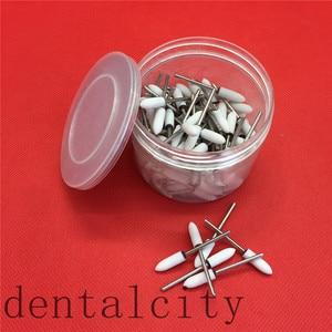 Image 3 - Pink/White/Green 100PCS Assorted Dental Lab Gravel Ceramic meium FG Burs Polisher 2.35mm