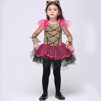 2016 Ropa de Baile de Europa y América de Halloween Carnaval Rendimiento Cosplay Vestido de Traje de Los Niños de los Bebés Trajes de Los Niños