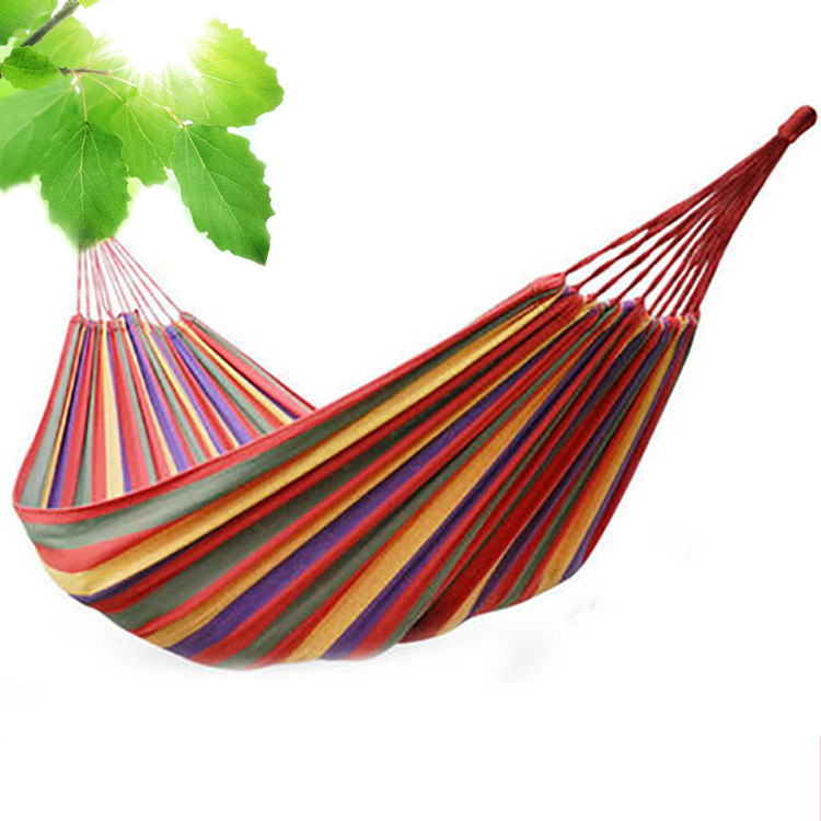 Double thickening canvas Hammock Outdoor indoor balcony swing Dormitory Hammock Tree Bed 260*150cmDouble thickening canvas Hammock Outdoor indoor balcony swing Dormitory Hammock Tree Bed 260*150cm