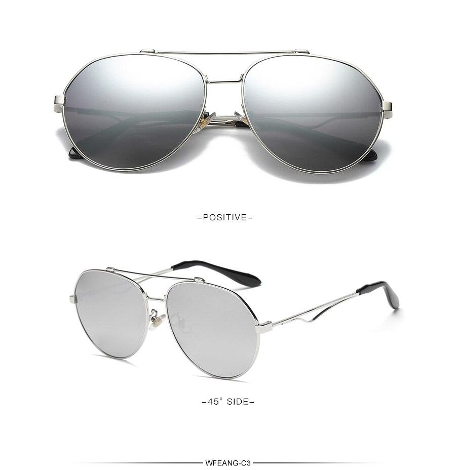 WFEANG de lujo de piloto de gafas de sol de las mujeres UV400 Retro  diseñador de marca grande marco gafas de sol para mujer de plata gafasUSD  7.41 piece adbb6f2cf053