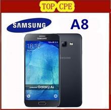"Original Unlocked Samsung Galaxy A8 A8000 Mobile Phone 5.7"" Octa Core 16.0MP Camera Android 5.1 2GB RAM 16GB ROM cellphone"