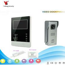 Yobang Security freeship 4.3 inch Video Door Color +Wired Video Intercom Doorbell phone System Video Door Phone Bell Kits
