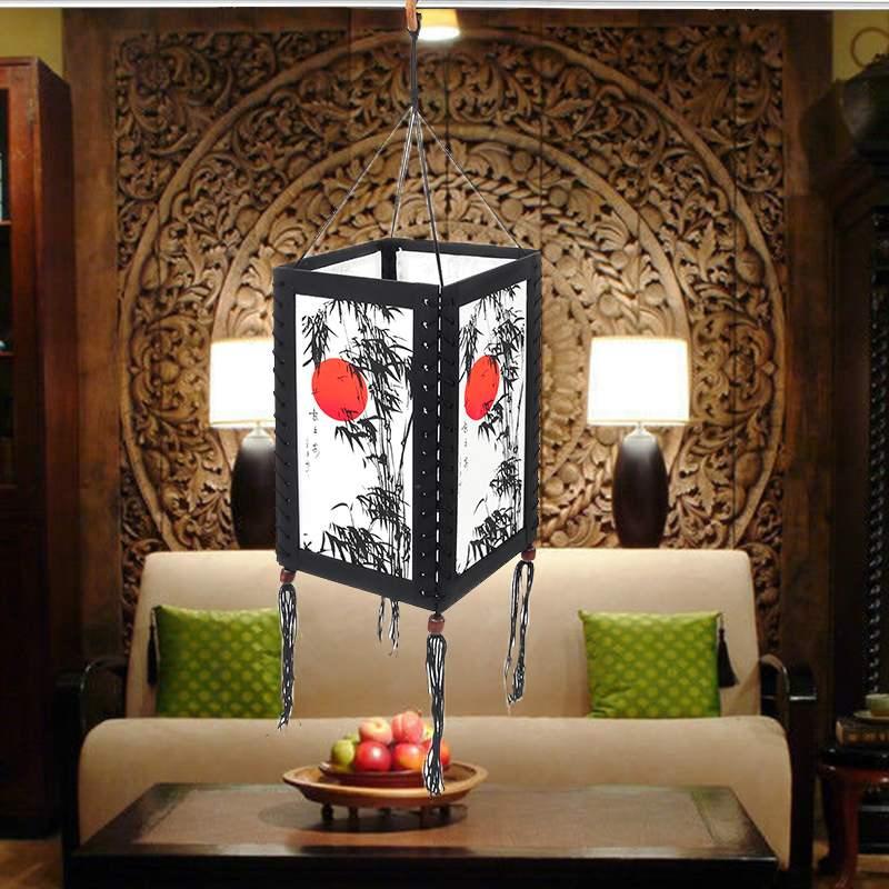 big sale b8941 5b418 US $10.89 52% OFF|Asian Oriental Home/Bedroom/Living Room Zen Decor Desk /  Table / Floor Lamps Suspension luminaire Hanging Pendant Lights-in Pendant  ...