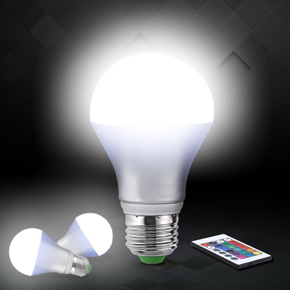 Litake Topone 5W RGB LED Bulbs A60 Color Changing Bulb 160 Beam Angle 16 Colors Remote Controller Included LED Light Bulbs