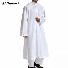 2 Piece Set Abaya Muslim Top + Pants Arabic Islam Abayas Clothing Loose Pakistan Saudi Arabia Men Arab Musulman Shirt Trousers
