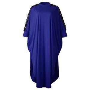Image 1 - 3XL размера плюс африканская одежда африканские платья для женщин с блестками мусульманское длинное платье длина модное Африканское платье для женщин
