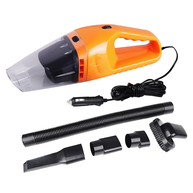 120W 12V 5M Portable Car Vacuum Cleaner Rechargeable Wet and Dry Dual Use Low noise Super Absorb Car Waste Auto Part CV001