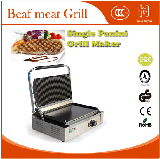 Electric Skillets Restaurant Cooking Kit machine Panini Grill Sandwich maker single Beaf meat Grill