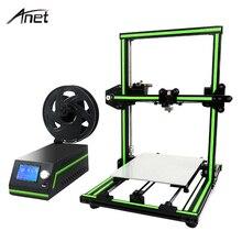 New! Anet E10 Easy Assemble 3D Printer Reprap Prusa i3 Aluminum Frame DIY 3D Printer Set Large Print Size with Filament SD Card