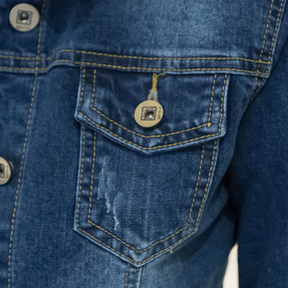 HTB1GM4SaKL2gK0jSZPhq6yhvXXal Women Short Jeans Jacket Slim Turn Down Collar Long Sleeve Button Denim Outwear New Chic Vintage