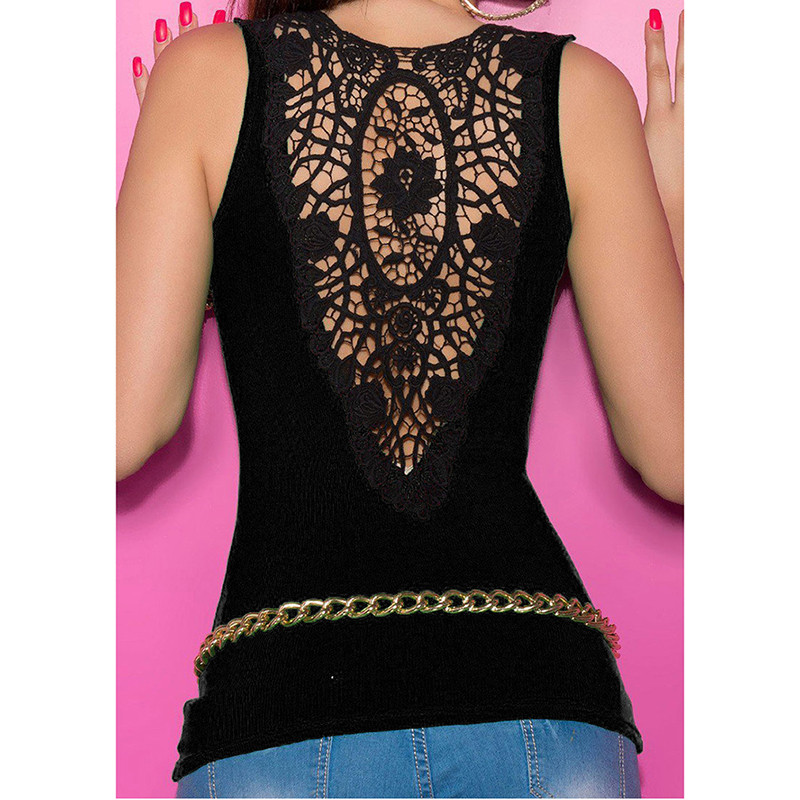 Sexy Lace Patchwork Women Tank Top With Out Belt 2018 Summer New Camis Ladies Fashion Cropped Top Female Camisole Clothing