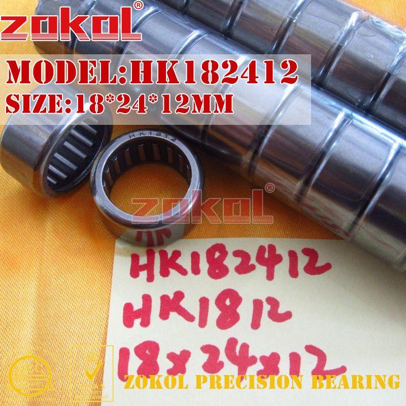 ZOKOL Bearing HK182412(HK1812) HK182416(HK1816) HK182420 HK182425 Needle Roller Bearing 18*24*12/16/20/25mm