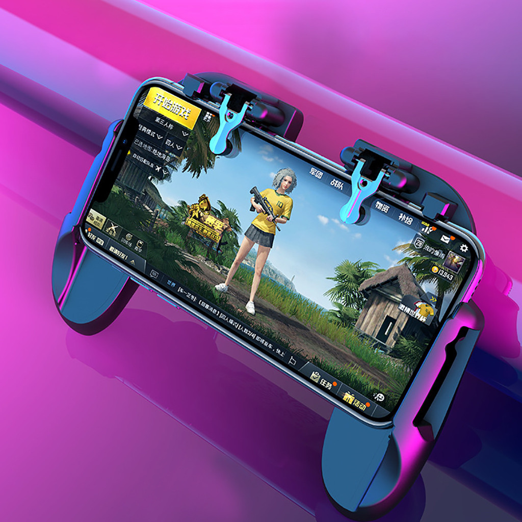 Mobile Gamepad Controller Trigger Fire Button Shooter For iOS Android Phone Classic Game Gamer Gaming For PUBG Emulator connsole