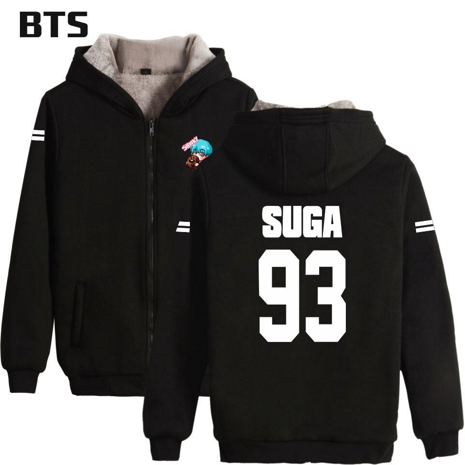 BTS K-pop Women/Men Hoodies Sweatshirts Zipper Popular Hip Hop Hoodie Sweatshirt Creative Design Lovely Sweatshirt Plus Size 4XL