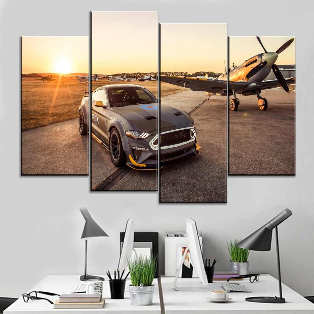 Home Decoration Modern Artwork Painting 1 Panel Cars Ford Eagle Squadron Mustang Gt Picture For Living Room Canvas Print Poster