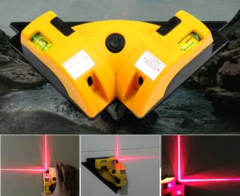 Cena hurtowa wysokiej jakości pionowa Pro pionowa pozioma poziomica laserowa Nivel poziomu projekcja kwadratowy kąt prosty 90 stopni tanie i dobre opinie 0 01 650nm nivel laser level Line 190 x 120 x 52mm 2 linie Linia Lasery NoEnName_Null