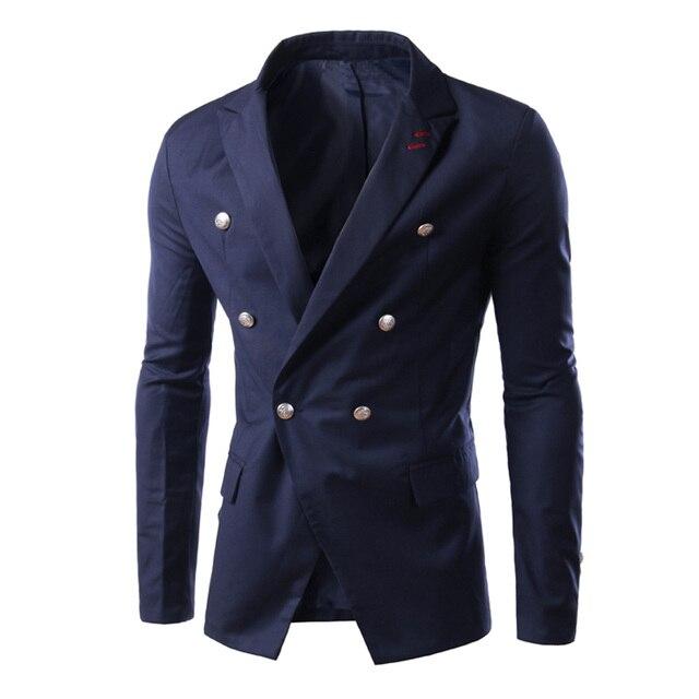 Моды для Мужчин Пиджак Плюс Размер Длинные Рукава Весна Джентльмен Нагрудные Двойной Брестед Классический Тонкий Жан Пальто Бренда Одежды LB