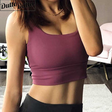 Woman Sports Top Solid Sport Bra Push Up Seamless Top font b Fitness b font Yoga