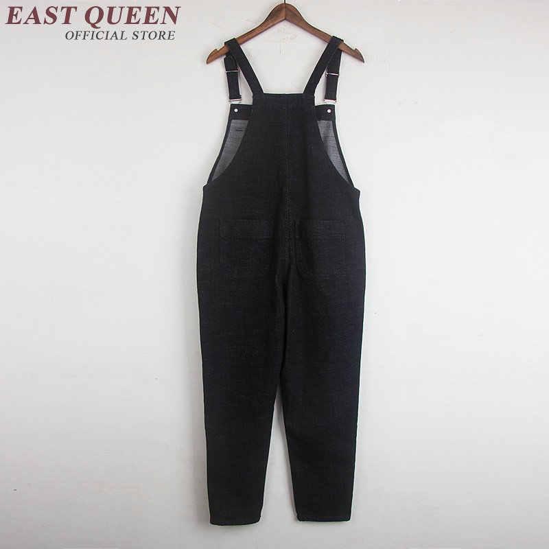 aaaf2f2a175 ... Casual womens jumpsuit long black denim jumpsuit slim dungarees bib overalls  trousers pant plus size 5xl