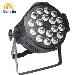 LED Par 18x18W RGBWA + UV 6w1 LED Par Par reflektory led projektor dla dj-a umyć oświetlenie sceniczne oświetlenie ze stopu aluminium