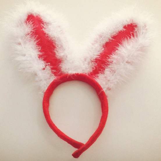 Wholesale 10 PCs New Christmas decoration party Bunny ears hat hoop