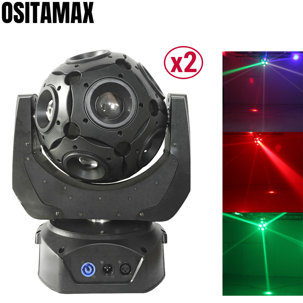 2PCS Strong Beam LED DMX Moving Head Football Light 12x12w RGBW 4IN1 Disco Stage Light Auto Run for Pub Wedding KTV|Stage Lighting Effect|   -