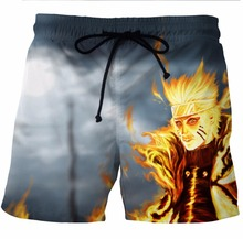 3D Naruto men's shorts with Quick Drying pocket