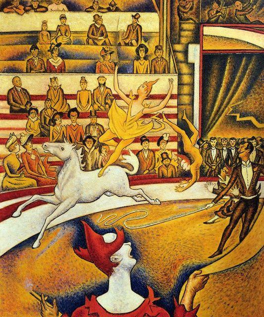 Moderne art Paysages Du Cirque de Georges Seurat huile sur