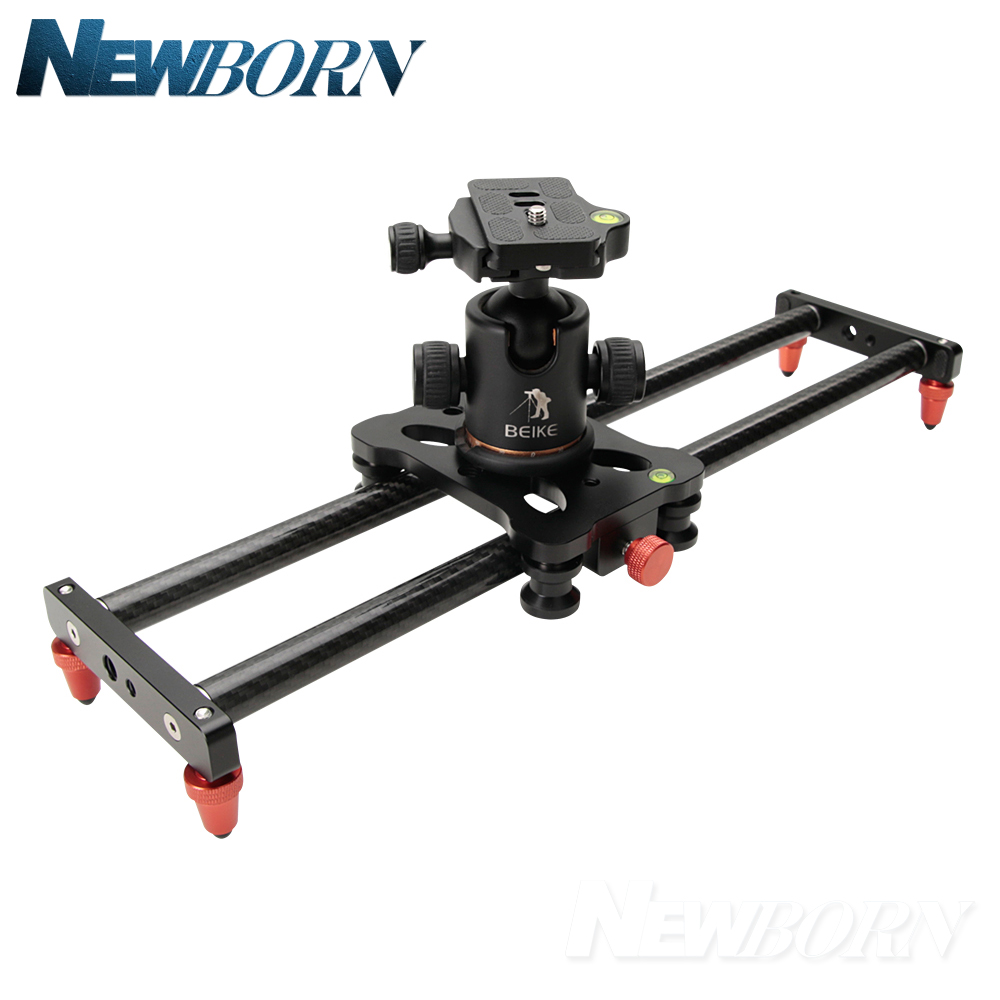 40cm DSLR Camera Video Carbon Slider Track Dolly Rail Stabilizer System for Canon Pentax Sony Camcorder SLR Movie Film image