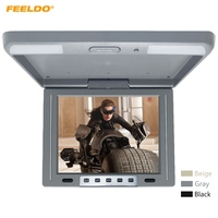 FEELDO 12 Car TFT LCD Roof Mounted Monitor Flip Down Monitor 2 Way Video Input 12V IR Transmitter 3 Color #AM1287