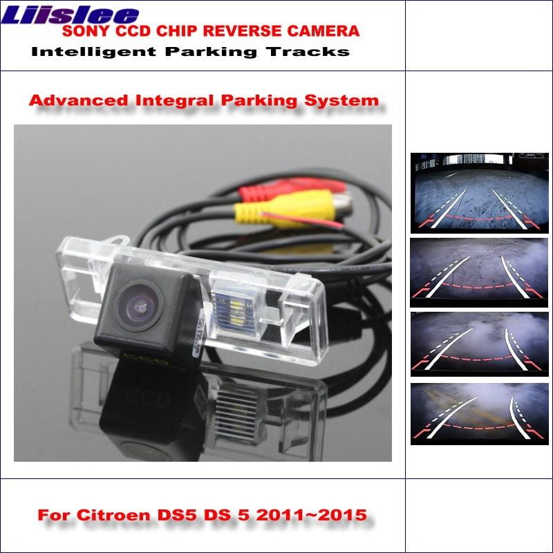 Liislee Intelligentized Reversing Camera For Citroen DS5 DS 5 2011~2015 Rear View Back Up / 580 TV Lines Dynamic Guidance Tracks