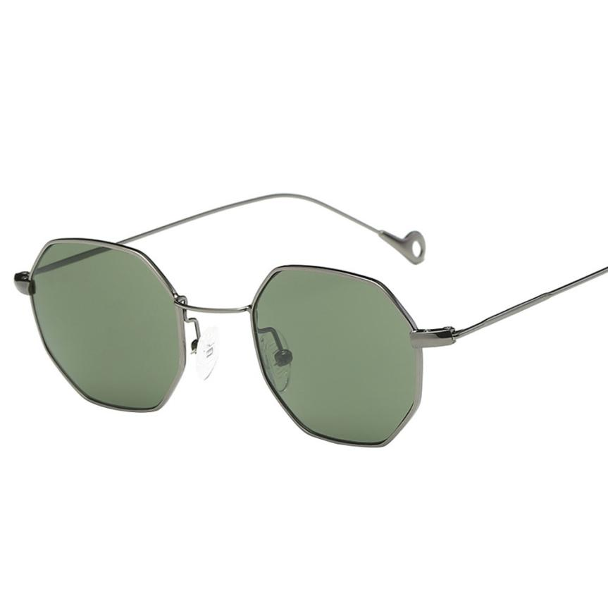 #5 Womens Men Fashion Metal Irregularity Frame Glasses Brand Classic Sunglasses