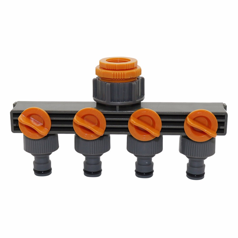 """HTB1GM6GiDnI8KJjy0Ffq6AdoVXau 1""""to3/4""""to1/2"""" Female Thread 4 Way Hose Splitters For Automatic Watering Water Pipe Linker Timer Garden Water Irrigation Tool"""