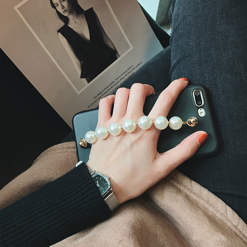 Korea Luxury Pearl Chain Phone Case for Apple iPhone 7
