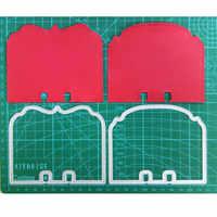 2 pièces/ensemble mémoire dex Rolodex métal découpe matrices pochoirs pour Scrapbooking Photo Album carte papier gaufrage artisanat bricolage découpe matrices