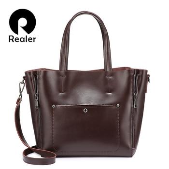 ショルダーバッグトートバッグ用女性分割レザーレディースハンドバッグファッションデザイナー高品質ラージクロスボディ女性バッグСумка