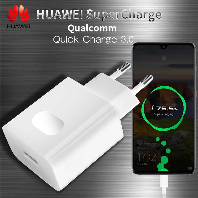 Original HUAWEI Super cargador de viaje rápido cargador rápido QC 3,0 5A USB tipo C HUAWEI P10 más P20 amigo 9 de 10 20 Pro adaptador
