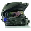 Halo 4 Helmet Mask Master Chief Helmet Cosplay Halloween Masks  with Blue Flash LED Light  Armor with Honeycomb Glass XCOSER PVC