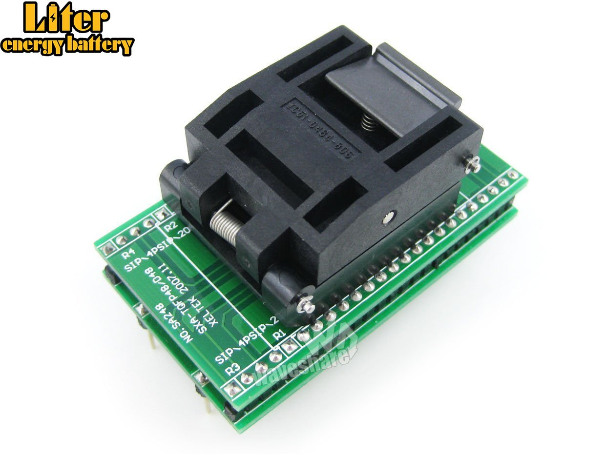 QFP48 TO DIP48 IC Test Socket Programming Adapter Yamaichi IC51-0484-806 QFP48 TQFP48 FQFP48 PQFP48 Socket