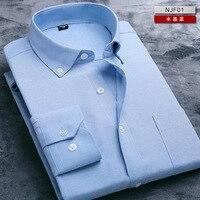 2016 Men S Long Sleeve Oxford Shirt Business Attire Shirts For Mens High Quality Cheap Striped