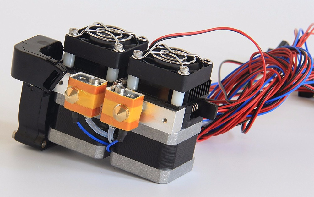 1.75mm Fully Assembled Dual Extruder for Flashforge Creator/Dreamer 3D Printer цена