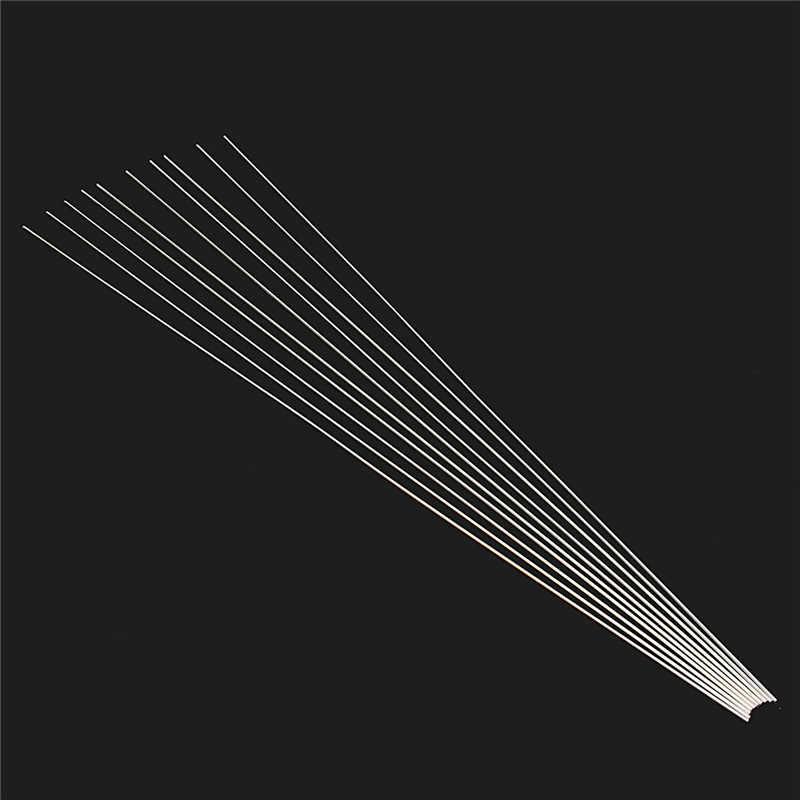 10 Pçs/set 1.6x330mm Liga de Alumínio Ferramentas de Solda de Solda De Solda De Prata Fio de Soldadura a Solda TIG Varetas De Enchimento
