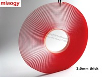 3 0mm Thick 10meters Long 10mm Wide VHB Double Adhesive Clear Glue Tape Gasket Seal