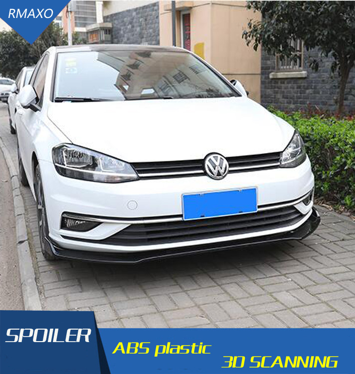 For Volkswagen Golf 7.5 Body Kit Spoiler 2016-2018 For  Golf  ABS Rear Lip Rear Spoiler Front Bumper Diffuser Bumpers Protector
